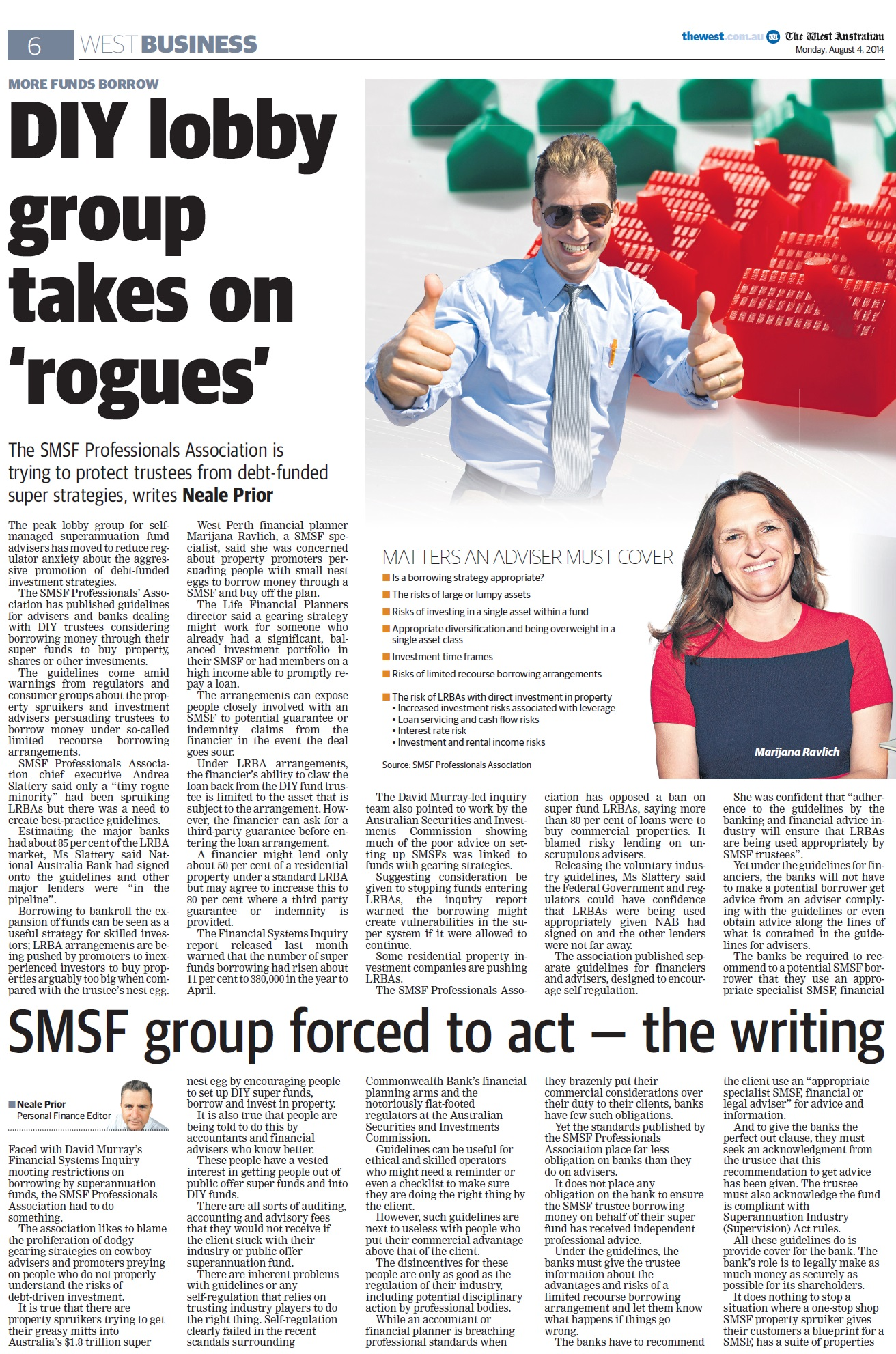 DIY Lobby Group Takes on Rogues - The West August 4, 2014 (Page 6) DIY Lobby Group Takes on 'Rogues' DIY Lobby Group Takes on 'Rogues' DIY Lobby Group Takes on Rogues The West August 4 2014 Page 6